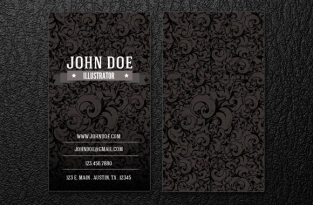 intrincate business card template. Free Psd