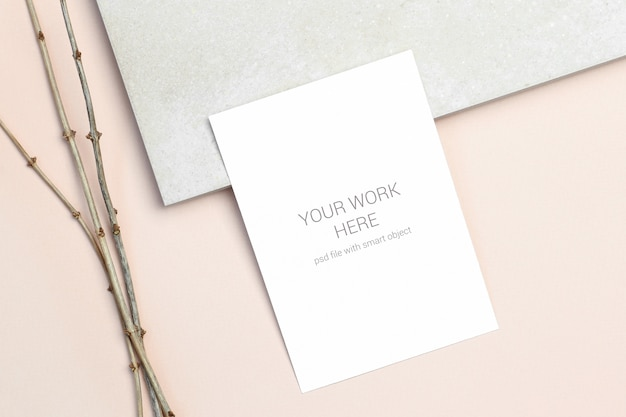 Invitation Card Mockup Psd File Premium Download
