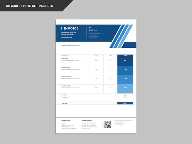 請求書のデザイン Premium Psd