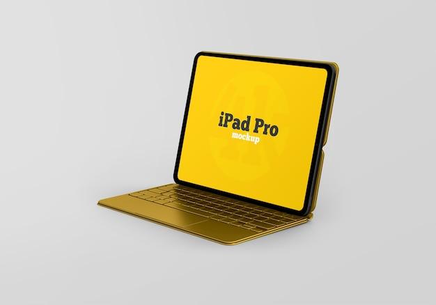 Ipad pro mockup with keyboard Premium Psd