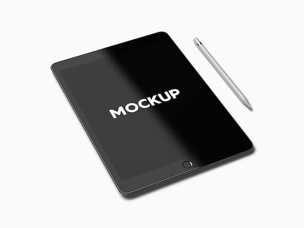 ipad with pen on white background mock up design free psd - Mockup Ipad Free