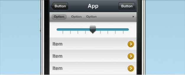 Iphone interface psd free