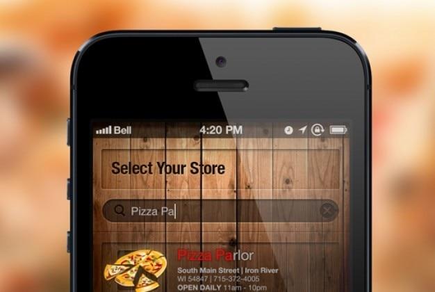 Iphone экран поиска на размытом фоне Бесплатные Psd