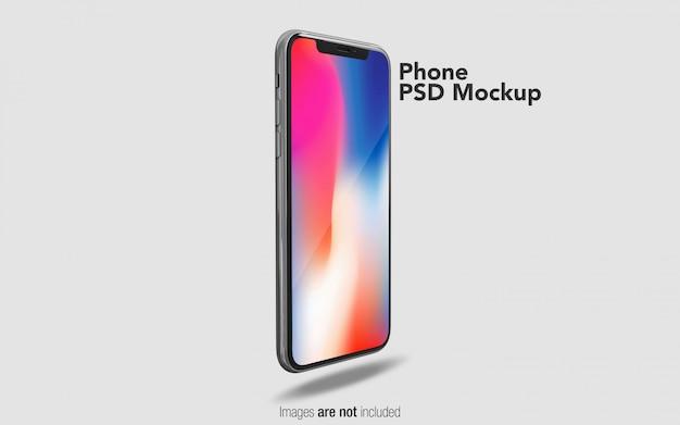 Iphone x psdモックアップ Premium Psd