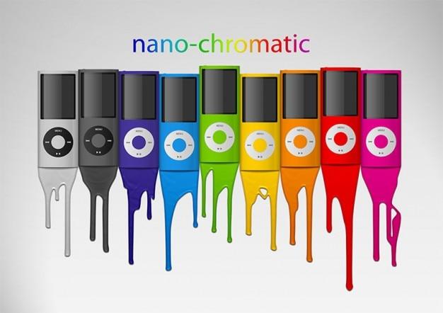 Ipod nano chromatic apple Free Psd