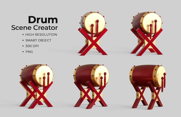 Исламский барабан сцена создатель Premium Psd