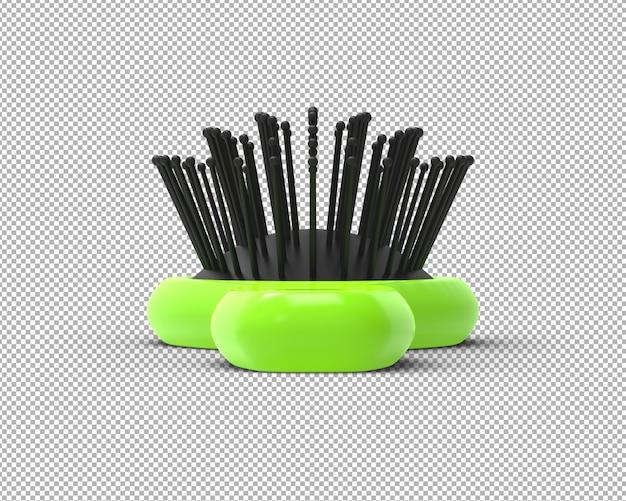 透明な3dヘアブラシレンダリングを分離 Premium Psd