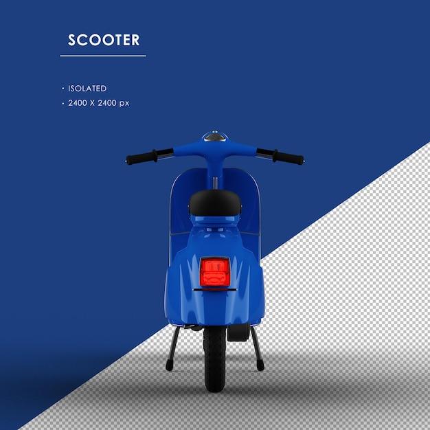 背面から分離された青いスクーター Premium Psd