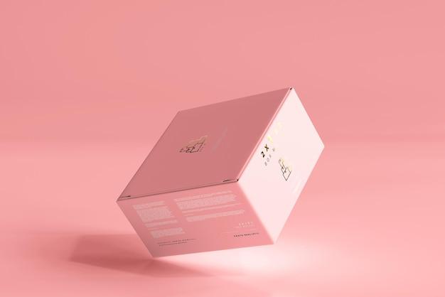 격리 된 상자 모형 무료 PSD 파일