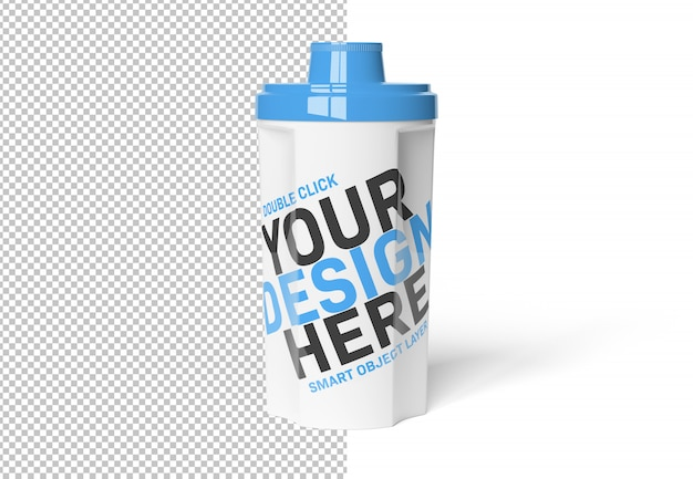 Isolated cut out protein shaker on white mockup Premium Psd