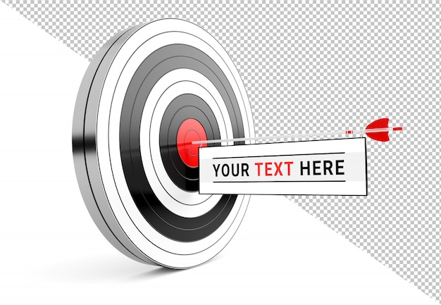 Isolated cut out target with arrow message template Premium Psd