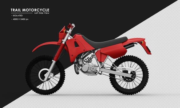 左側面図から分離された赤いトレイルオートバイ Premium Psd