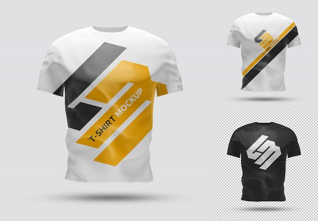 Isolated t-shirt with shadow mockup Premium Psd
