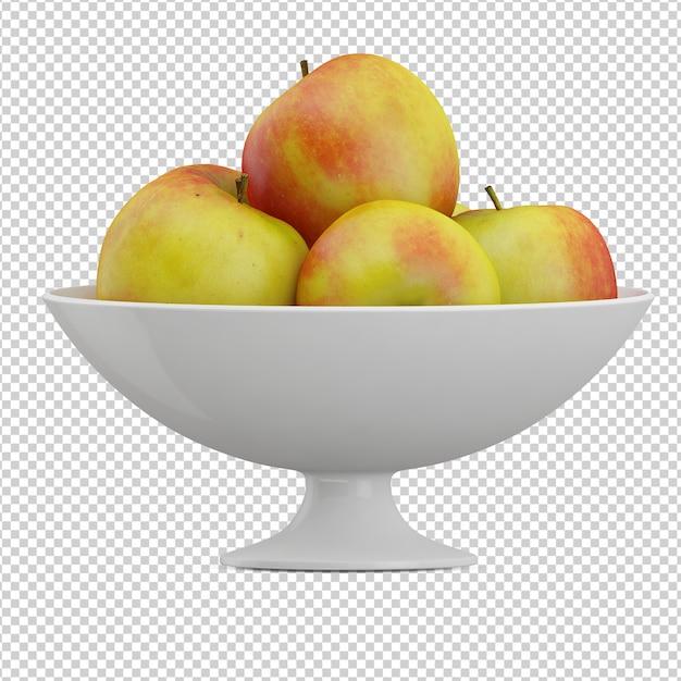 Isometric apples Premium Psd
