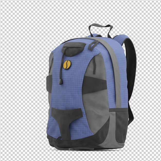 Isometric backpack Premium Psd