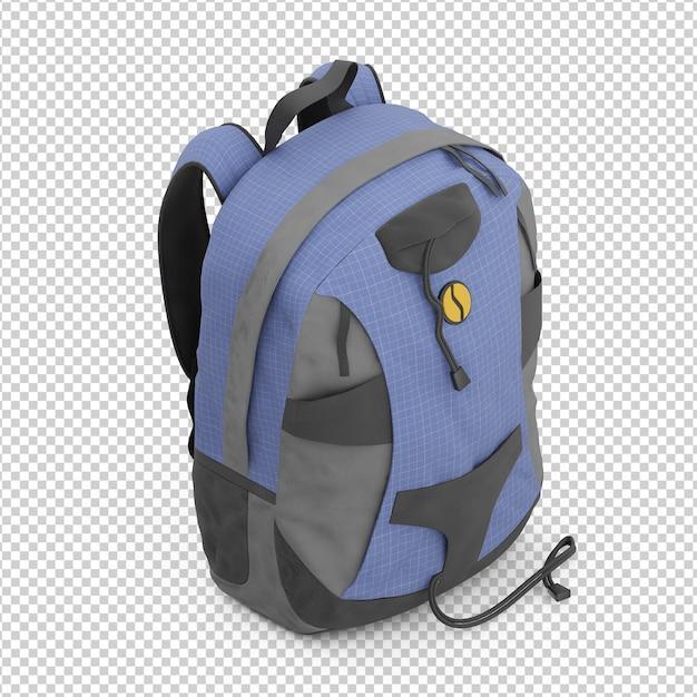 Isometric backpack Premium Psd