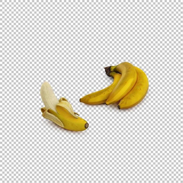 Isometric bananas Premium Psd