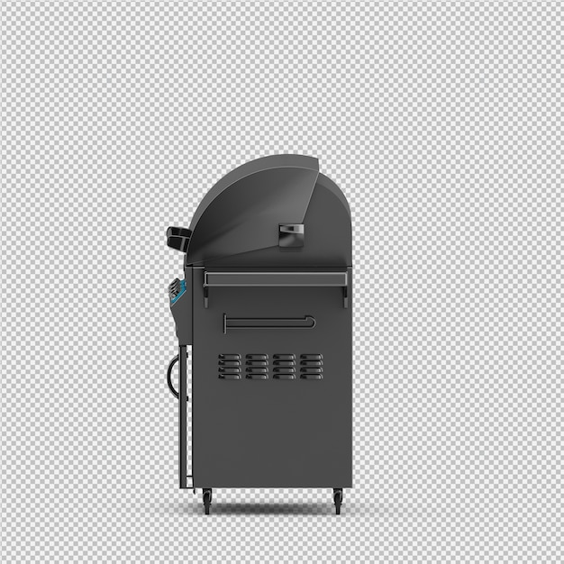 Isometric barbecue grill 3d isolated render Premium Psd