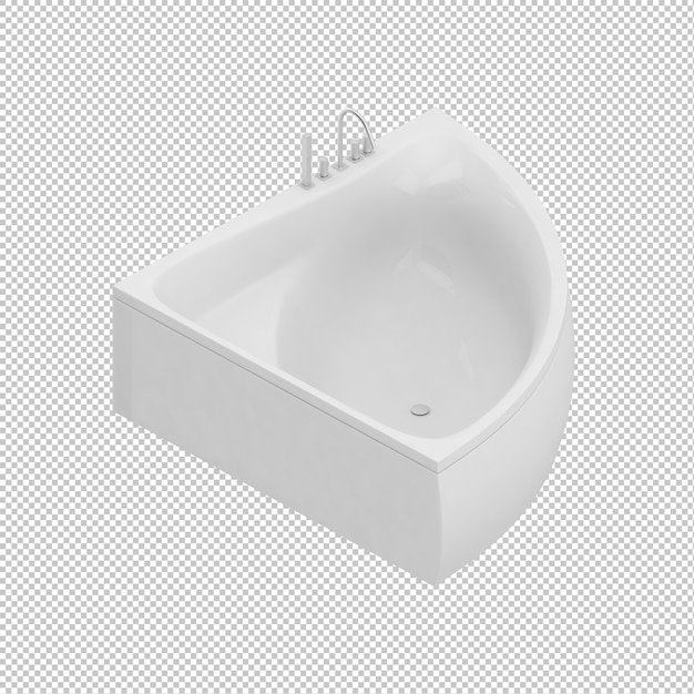 Isometric bathtub Premium Psd