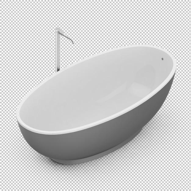 Isometric bathtub Premium Psd