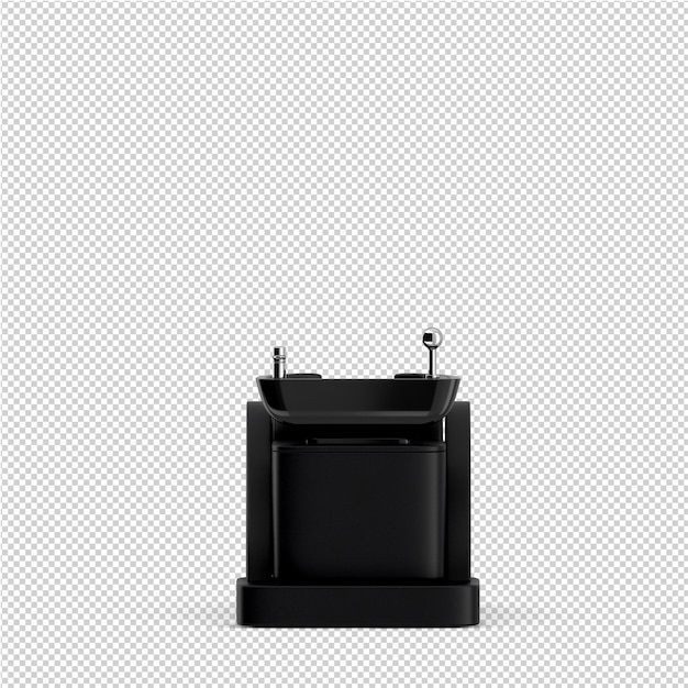 アイソメトリック美容アクセサリー3 d絶縁レンダリング Premium Psd