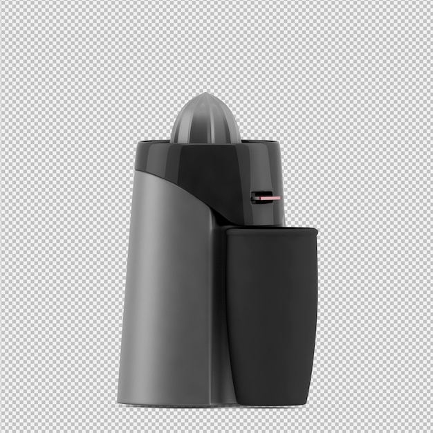Isometric blender juice machine Premium Psd