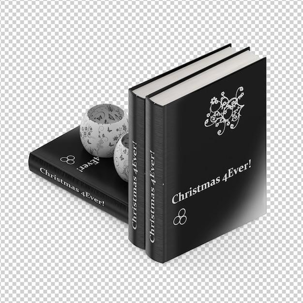 Isometric books Premium Psd