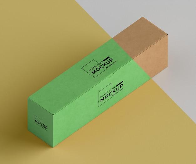 Изометрическое расположение коробки под большим углом Бесплатные Psd