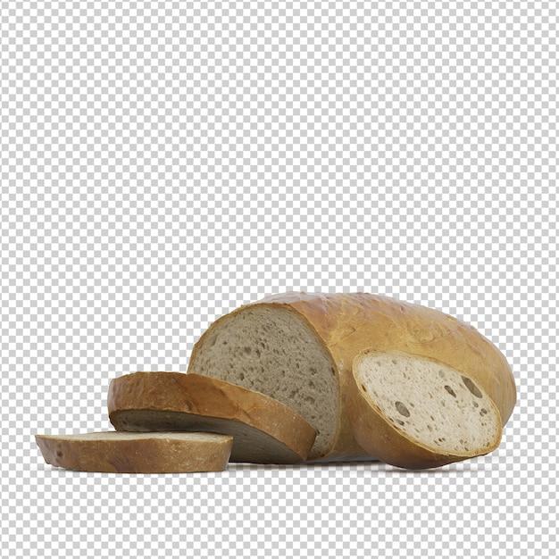 Isometric bread Premium Psd