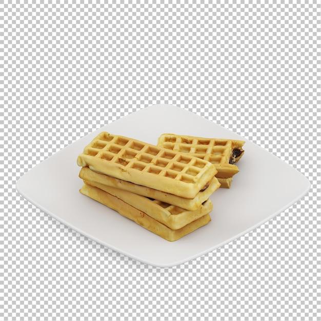 Isometric breakfast Premium Psd