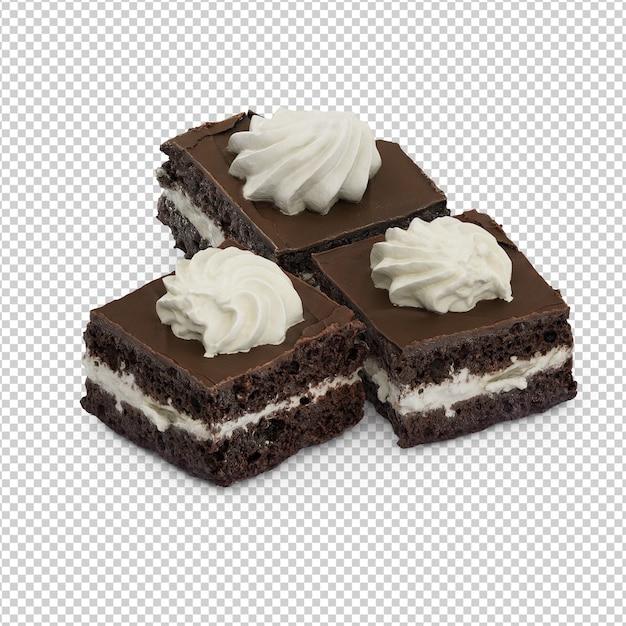 Isometric cake Premium Psd