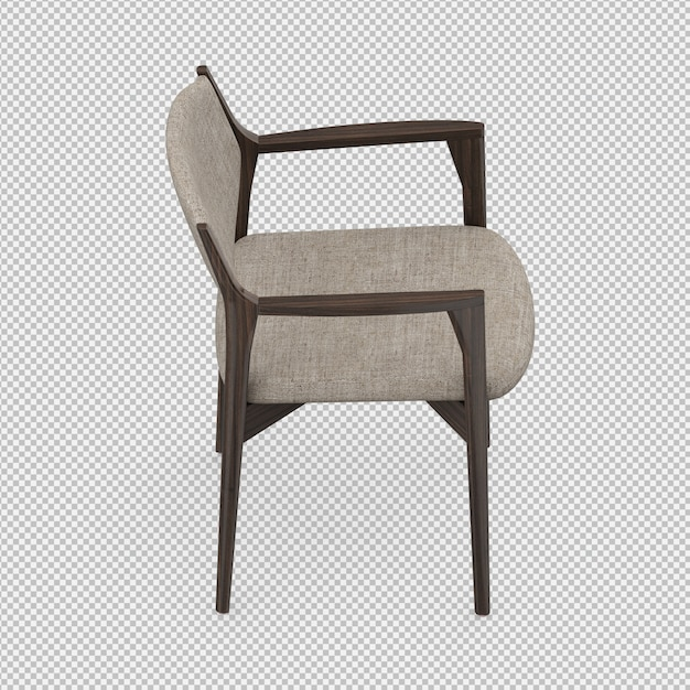 Isometric chair 3d isolated render Premium Psd