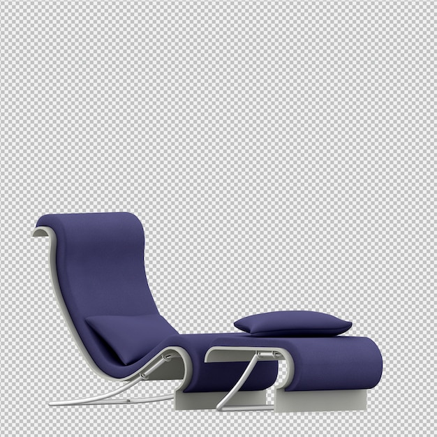 Isometric chair 3d render PSD file | Premium Download