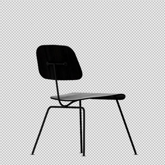 Isometric chair 3d render PSD file | Premium Download
