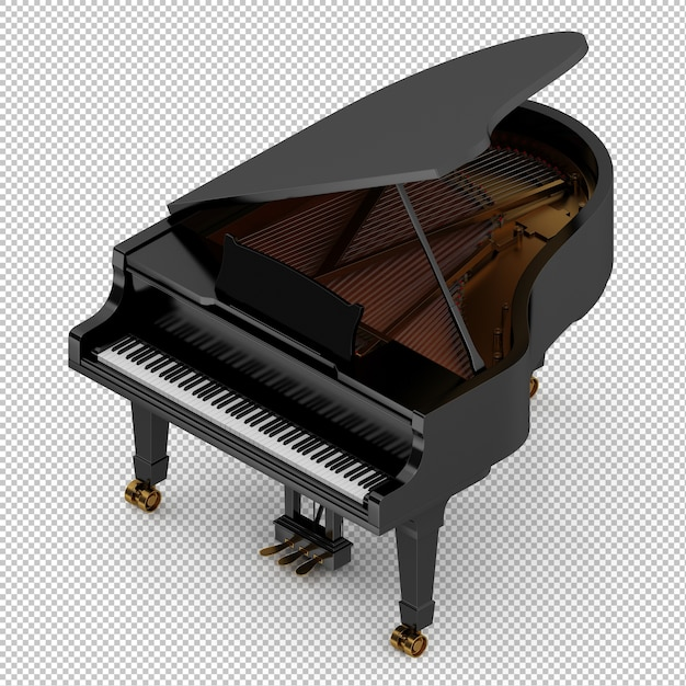 Isometric classic piano Premium Psd