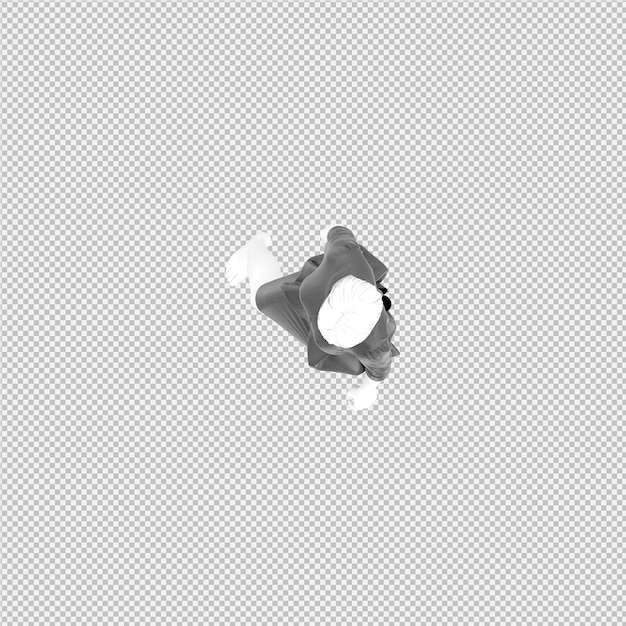 Isometric cloth 3d isolated render Premium Psd