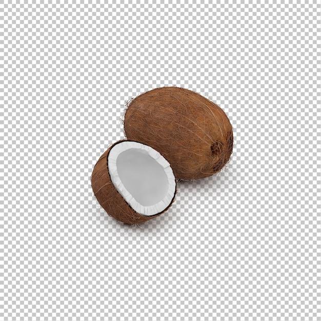 Isometric coconuts Premium Psd