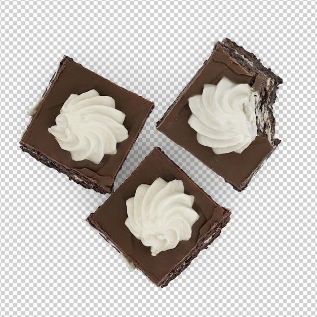 Isometric dessert Premium Psd