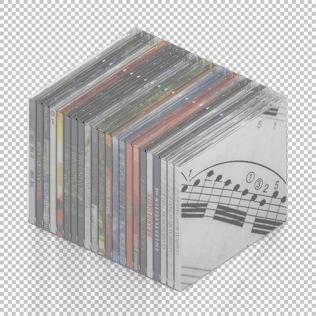 Isometric dvd cd Premium Psd