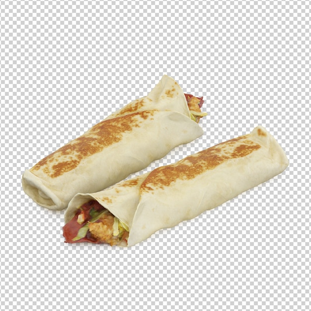 Isometric fast food Premium Psd