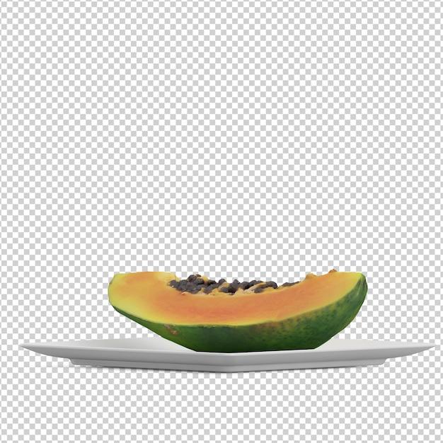 Isometric fruit Premium Psd