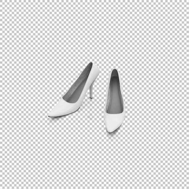 Isometric heels Premium Psd