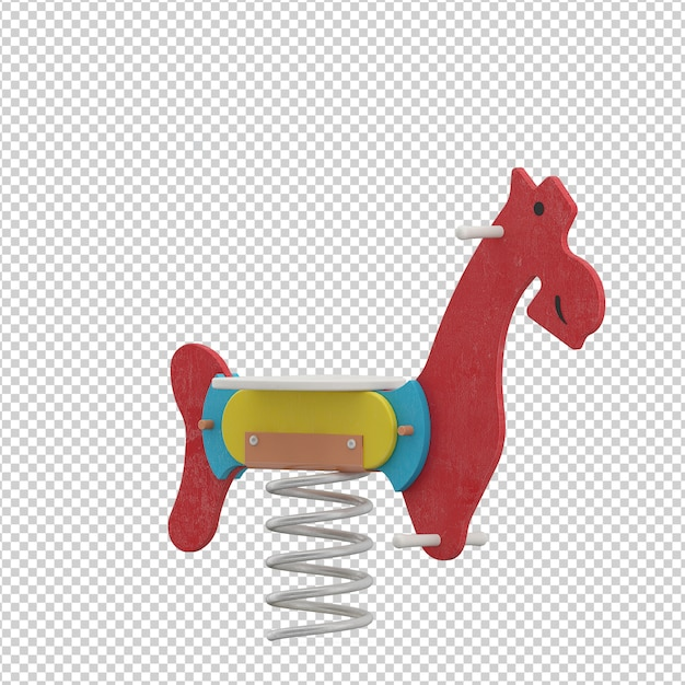 Isometric kid  horse toy Premium Psd
