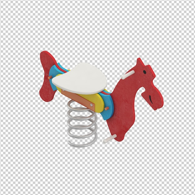 Isometric kid horse toy Premium Psd