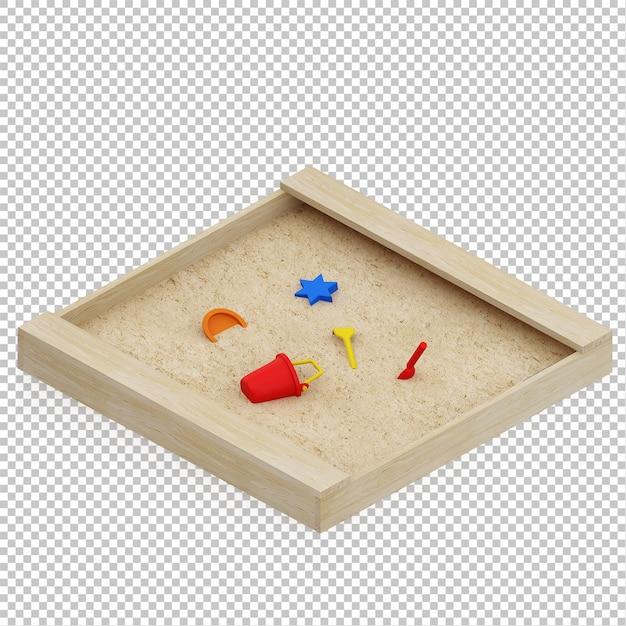 アイソメ子供の砂 Premium Psd