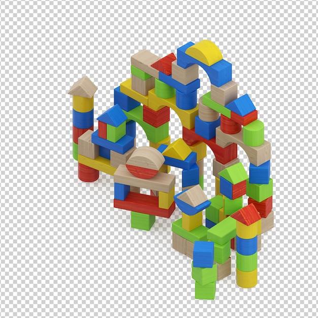 Isometric kid toy Premium Psd