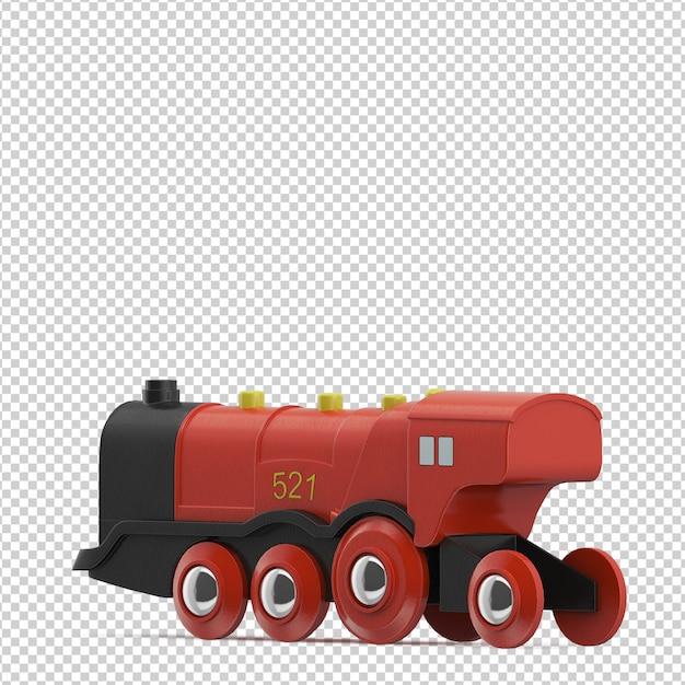 Isometric kid train toy Premium Psd