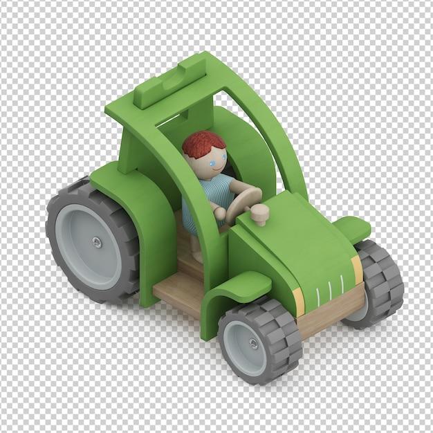 Isometric kid vehicle toy Premium Psd