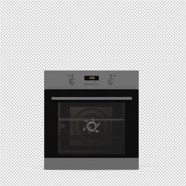 Isometric kitchen range 3d render Premium Psd