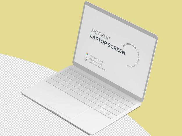 Isometric laptop screen mockup template Premium Psd